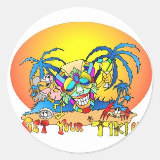Get your TIKI on Sticker