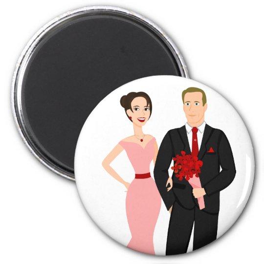 Get Your Valentines Ready! 6 Cm Round Magnet