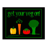 Get Your Veg On! With Assorted Veggies Postcard