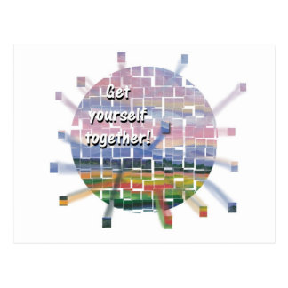 get yourself together postcard