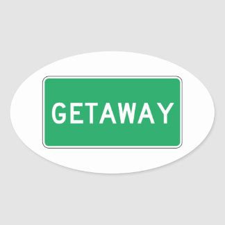 Getaway, Road Marker, Ohio, USA Sticker