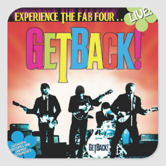 GetBack!® Square Stickers, Glossy Square Sticker
