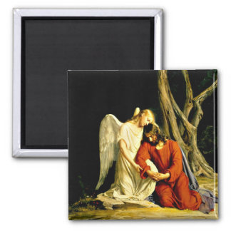 Gethsemane - artwork by Carl Bloch Square Magnet