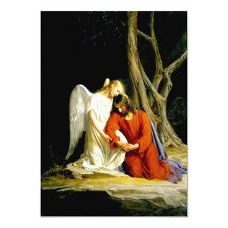 Gethsemane. Fine Art Customizable Cards 13 Cm X 18 Cm Invitation Card