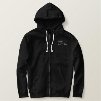 #getLuckEe Embroidered Sherpa-Lined Zip Hoodie