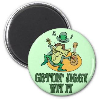 Gettin' Jiggy Wit It 6 Cm Round Magnet
