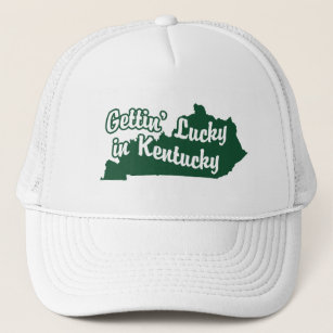 Gettin  Lucky in Kentucky Trucker Hat d402d7a07340