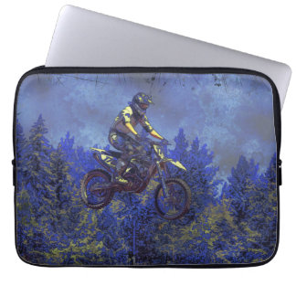 """Getting Air"" Motocross Dirt-Bike Champion Racer Computer Sleeves"