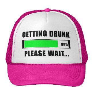 Getting Drunk..... Please Wait Funny trucker hat