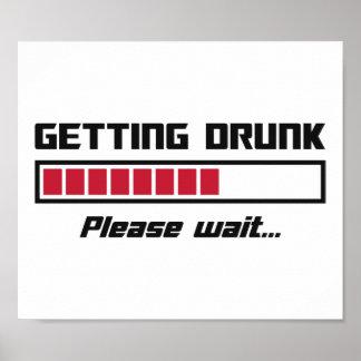 Getting Drunk Please Wait Loading Bar Posters