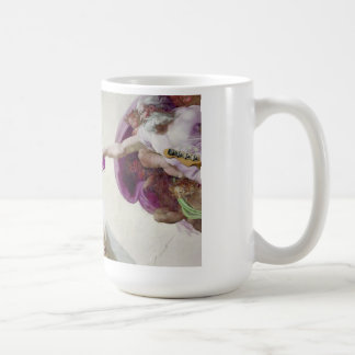 getting in tune with god... (who is a bass player) coffee mugs