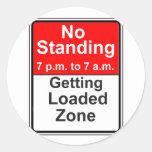 Getting Loaded Zone Round Sticker