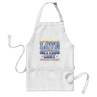 Getting Lost Love Face Standard Apron