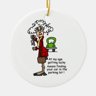 Getting Lucky Humor Christmas Ornament