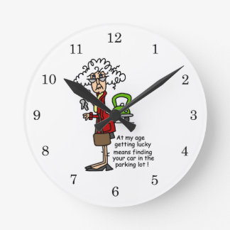 Getting Lucky Humor Wall Clocks