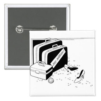 Getting Married Classy Special Custom 15 Cm Square Badge