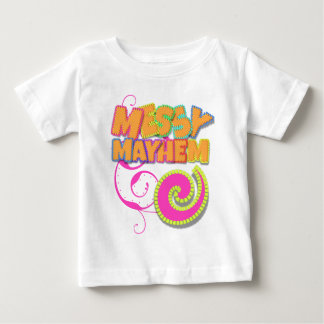 Getting Messy Orange and Pink Baby T-Shirt