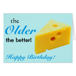 Getting older birthday card