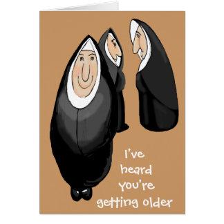 Getting older greeting card
