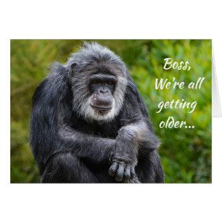 Getting Older Sucks Animal Gorilla Boss Birthday Card