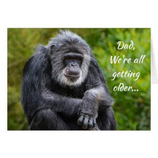Getting Older Sucks Animal Gorilla Dad Birthday Card