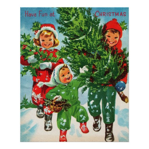 Getting The Christmas Tree Poster