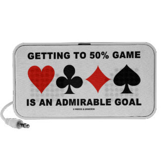 Getting To 50% Game Is An Admirable Goal iPhone Speaker