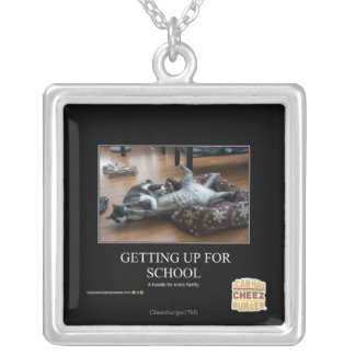 Getting Up For School Silver Plated Necklace