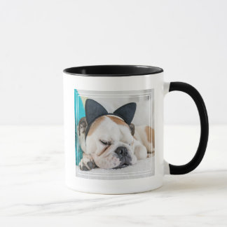 Getty Images | Sleepy Dog with Cat Headband Mug
