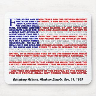 Gettysburg Address Mouse Mat