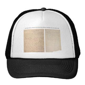 Gettysburg Address Nicolay Copy 1863 Hats