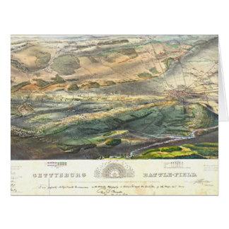 Gettysburg Battlefield 1863 Card