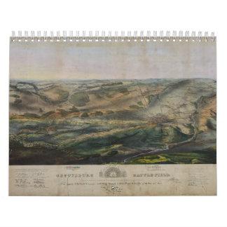 Gettysburg Battlefield by John Bachelder 1863 Calendar