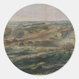 Gettysburg Battlefield by John Bachelder 1863 Round Sticker