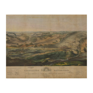 Gettysburg Battlefield by John Bachelder 1863 Wood Canvases