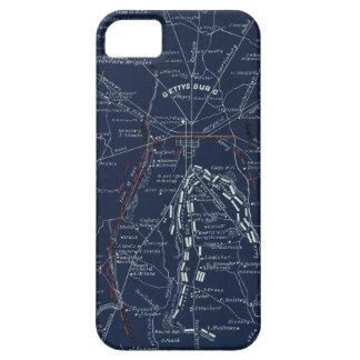 Gettysburg Battlefield Civil War Map (1863) iPhone 5 Cases