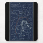 Gettysburg Battlefield Civil War Map (1863) Mouse Mat