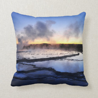 Geyser Smoke at Sunset Cushion