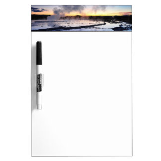 Geyser Smoke at Sunset Dry Erase Board