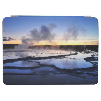 Geyser Smoke at Sunset iPad Air Cover