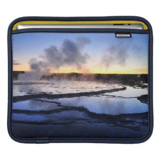 Geyser Smoke at Sunset iPad Sleeve