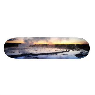 Geyser Smoke at Sunset Skate Decks