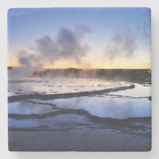 Geyser Smoke at Sunset Stone Coaster