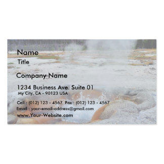 Geysers Steam Boiling Yellowstone Business Card
