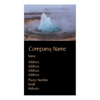 Geysir (hot spring) in Iceland Business Card Template