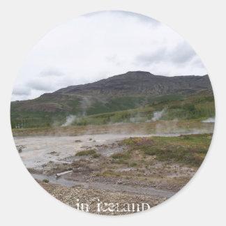 Geysir, Iceland Classic Round Sticker