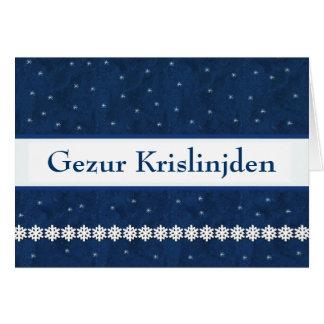 Gezur Krislinjden Snowflakes BLUE  Background Card