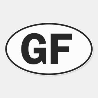 GF Oval Identity Sign Stickers