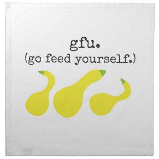 gfu./ (go feed yourself.) squash cloth napkin