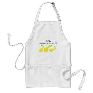 gfu./ (go feed yourself.) squash standard apron